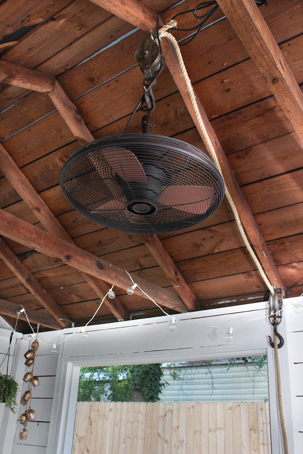 Shed Turned Boho Screened Porch Outdoor Ceiling Fans Porch