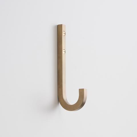 Galley Pull Natural Brass Brass Wall Hook Wall Hooks Hook