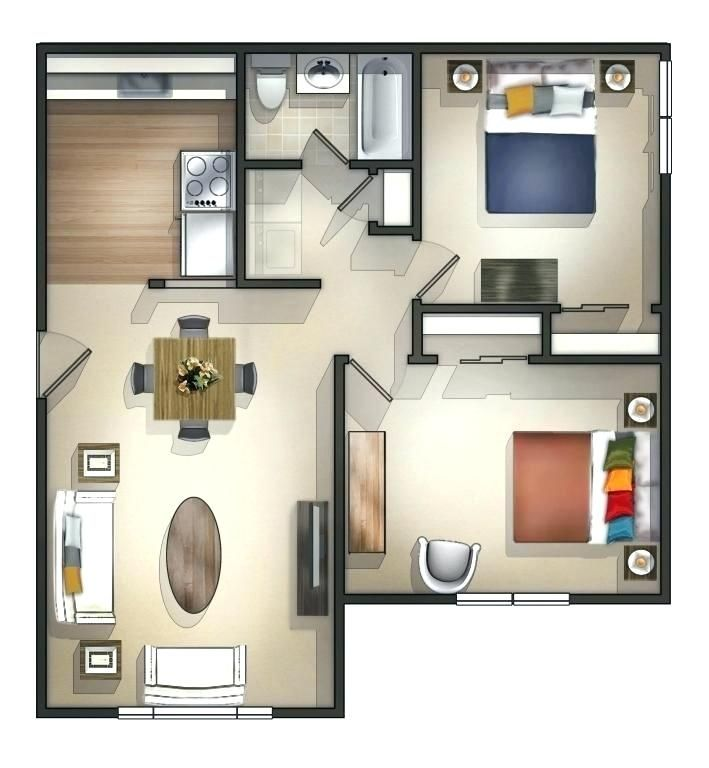 2 Bedroom Flat Design Plans Fabulous Apartments Apartment