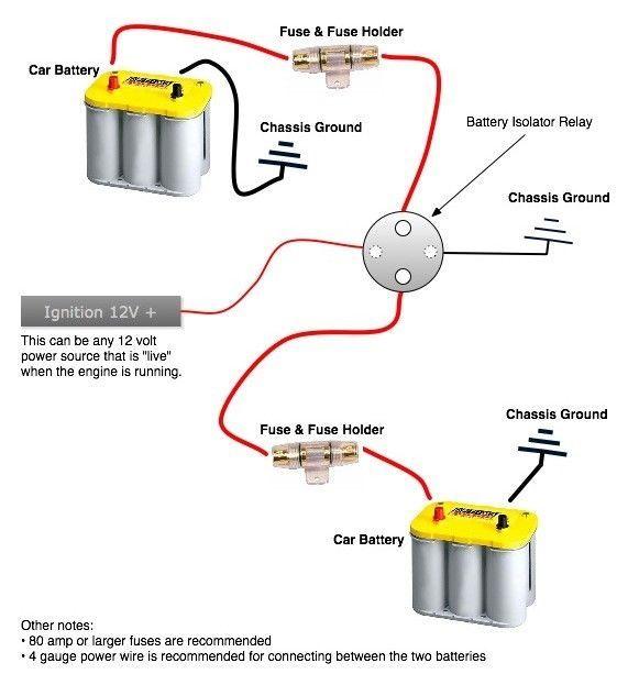 300 Amp Heavy Duty Dual Auxiliary Battery Isolator 2 Awg Copper Kit W Anl Fuses Dual Battery Setup Car Battery Car