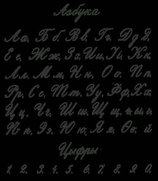 File russian cyrillic handwriting flerov