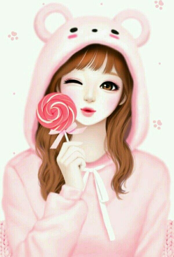 Korean girl wallpaper cartoon - Cartoon girl wallpaper ...