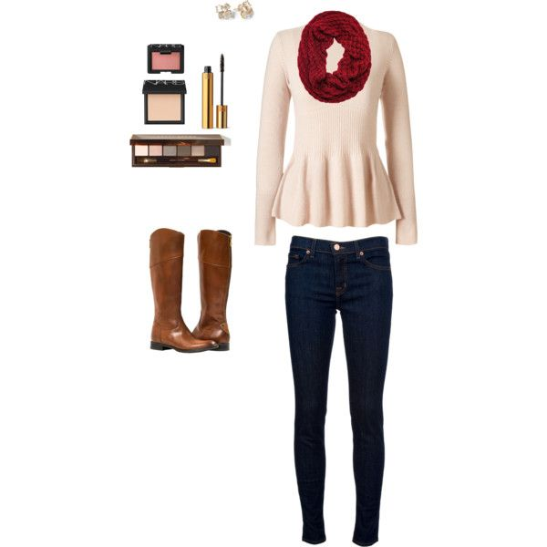 Peplum+sweater+by+breath-of-fresh-air+on+Polyvore+featuring+Orla+Kiely,+J+Brand,+Kate+Spade,+Bobbi+Brown+Cosmetics,+NARS+Cosmetics+and+Yves+Saint+Laurent