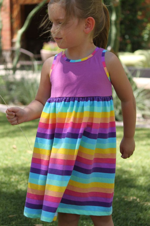 Snapdragon Dress PDF pattern for Knits, Girls Knit Dress Pattern ...