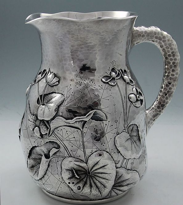 A Rare Dominick And Haff Antique Sterling Silver Pitcher