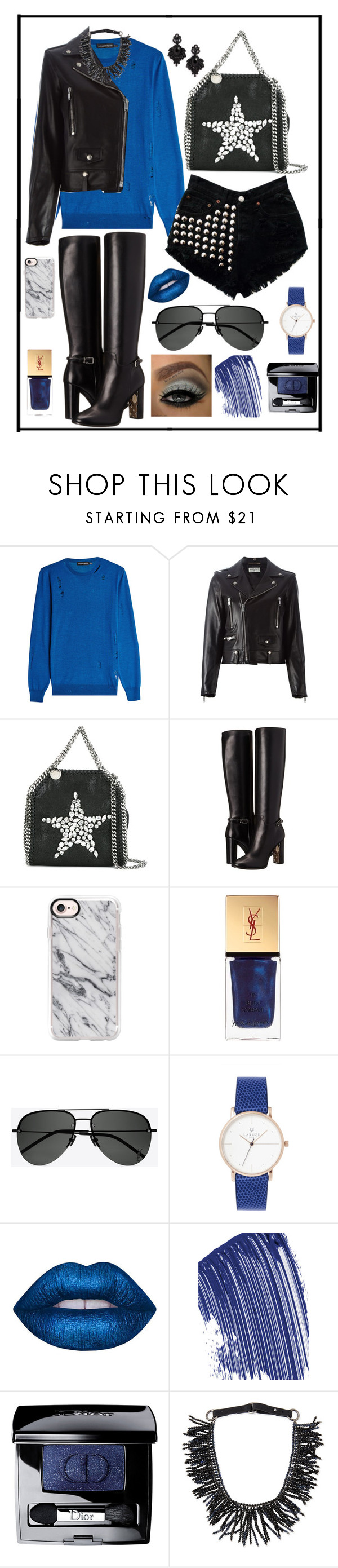 """""""Untitled #559"""" by rockinstyles ❤ liked on Polyvore featuring Alexander McQueen, Yves Saint Laurent, STELLA McCARTNEY, Burberry, Casetify, Lime Crime, Chanel, Christian Dior, Brunello Cucinelli and Tasha"""