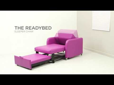 Readybed Sleeper Chair - YouTube