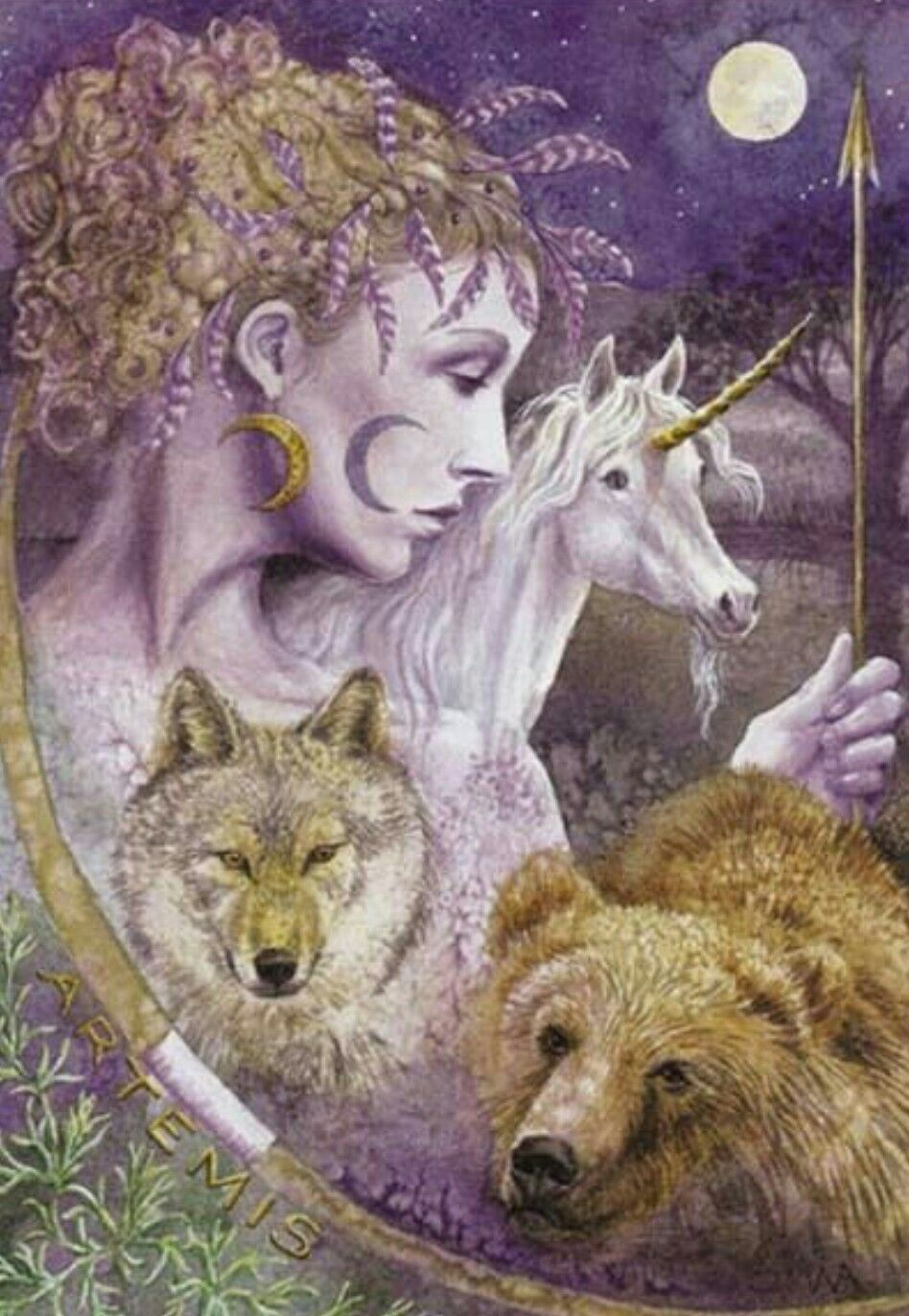 Pin by on pinterest wolf wiccan art pagan artemis goddess animal spirit guides new age home furniture greeting card celtic muse kristyandbryce Image collections