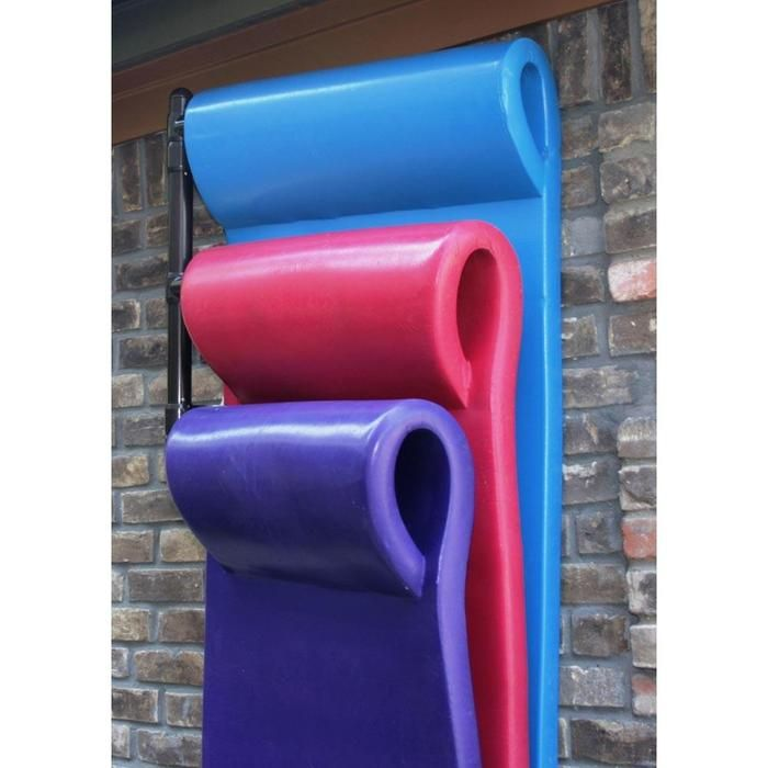 Pool Toy Storage Ideas a painted pallet serves as a towel rack and pool noodle storage http Pool Float Storage Our Hanging Float Rack Helps Prevent Mold Mildew And Dry Rot
