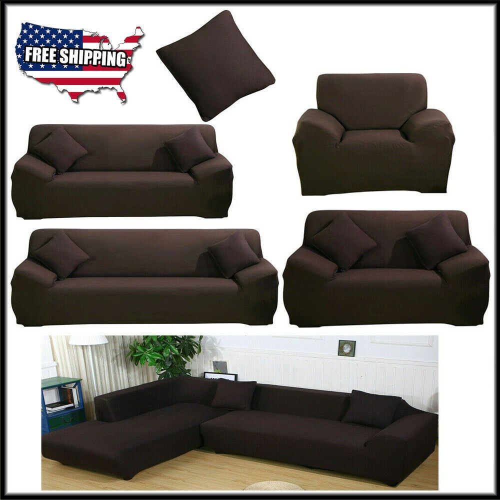 Ebay Link New 1 2 3 4 Seat L Shape Spandex Stretch Sofa Covers Protector Couch Slipcover Sofa Slipcover Ideas Of Slip Covers Couch Sofa Slipcovered Sofa