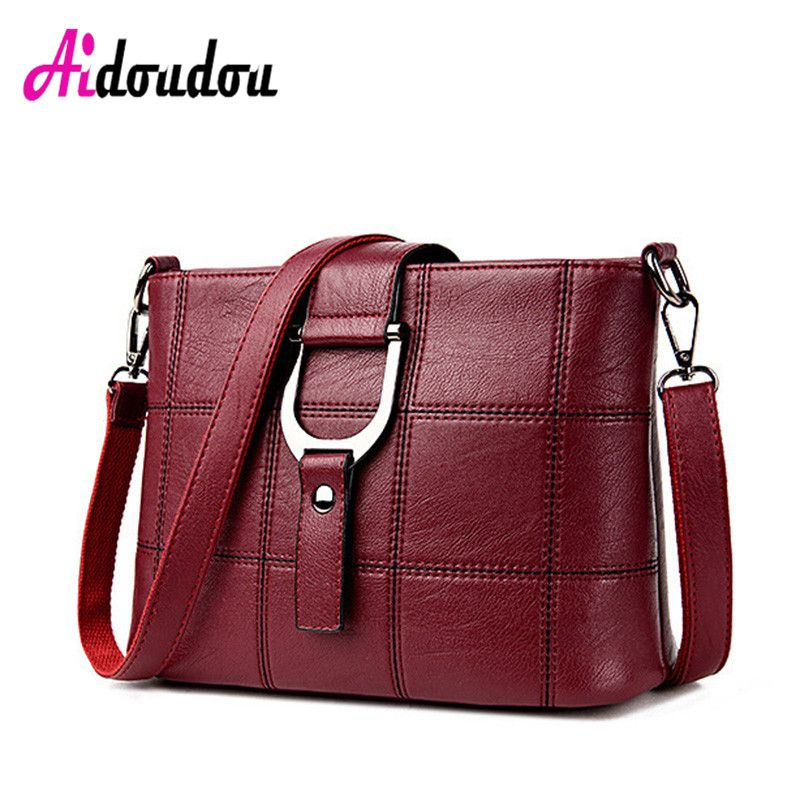 New 2016 Fashion European And American Style Women Crossbody Bags Plaid Messenger  Bags Famous Brand Soft cf06cdcf51