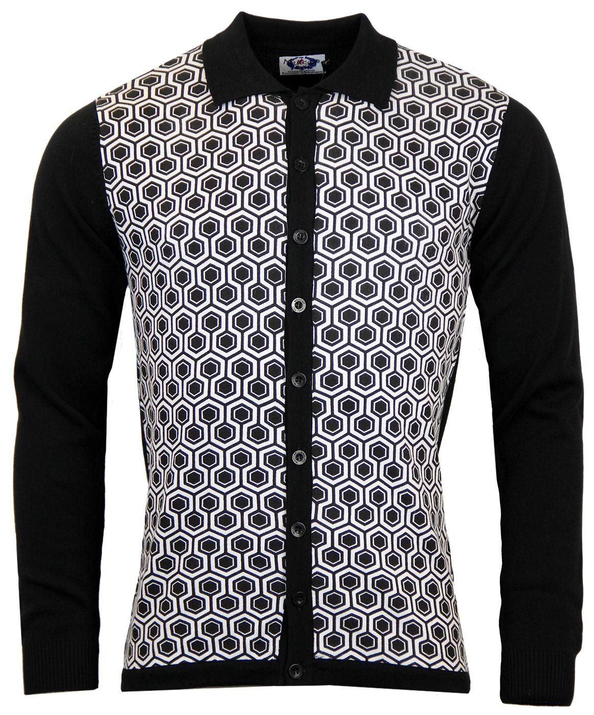 f66450f2 Overlook MADCAP ENGLAND Honeycomb Polo Cardigan | Blood Brothers ...