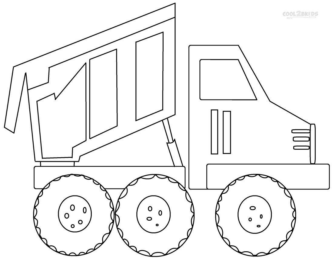 Dump Truck Coloring Pages | Truck coloring pages, Coloring ...