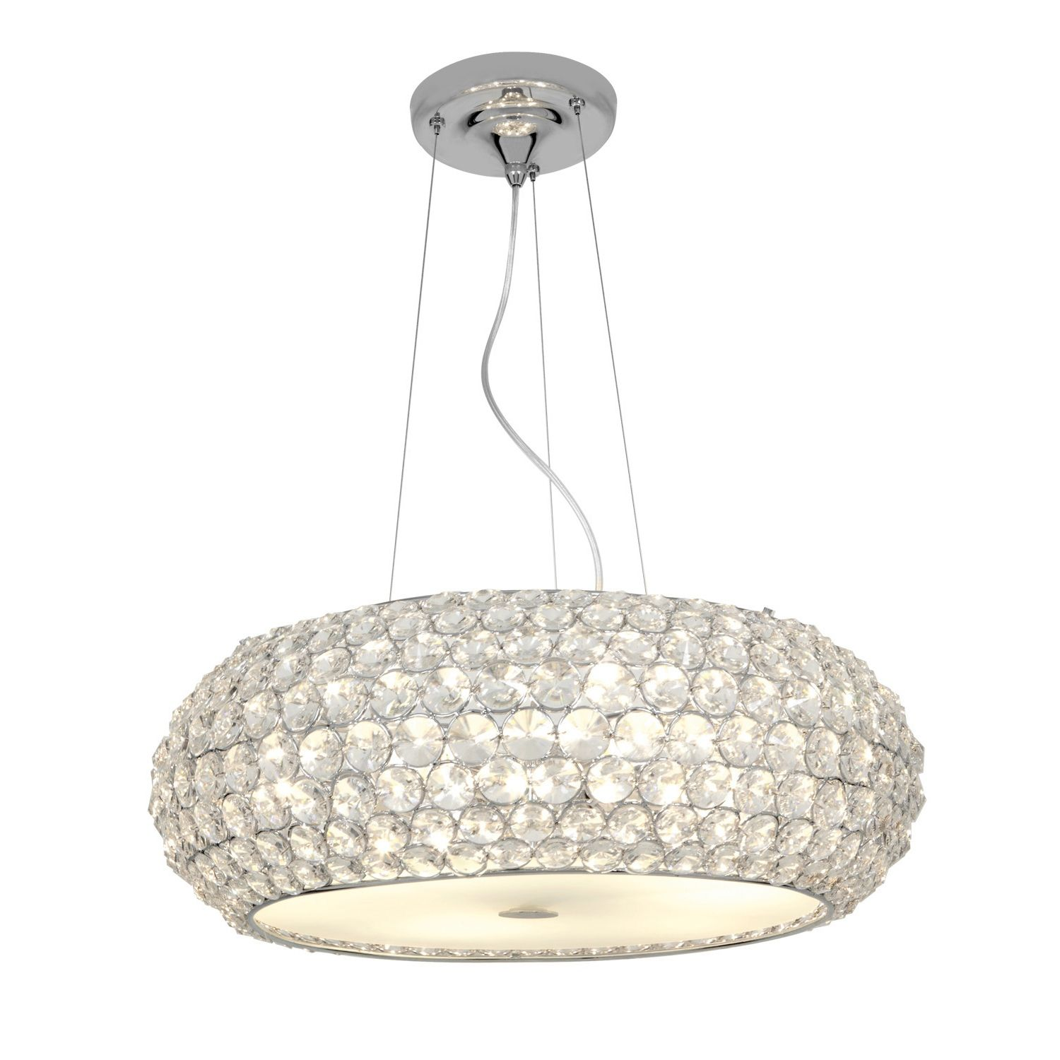 Add a unique twist to your home with the Kristal 6light pendant