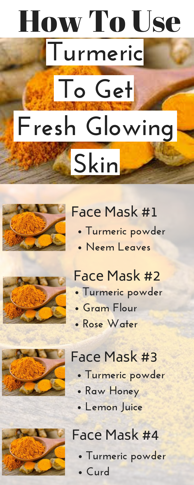 How To Use Turmeric To Get A Youthful Fresh Skin At Home Naturally Fresh Skin Turmeric Lemon Juice Face