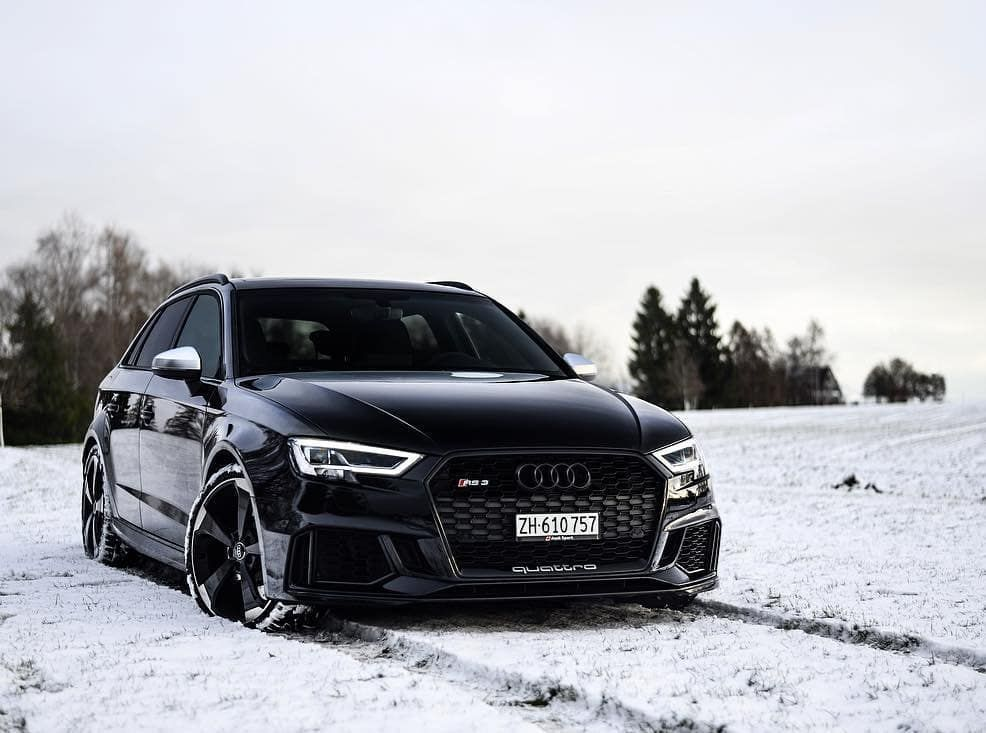 Rs3 In Her Environment Picture Owner Via Audi Rs3 Black Audi Audi Wheels