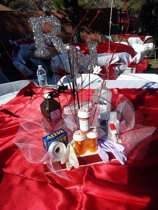 Nurse graduation centerpieces centerpiece for rn grad parties party nursing school also ideas rh pinterest