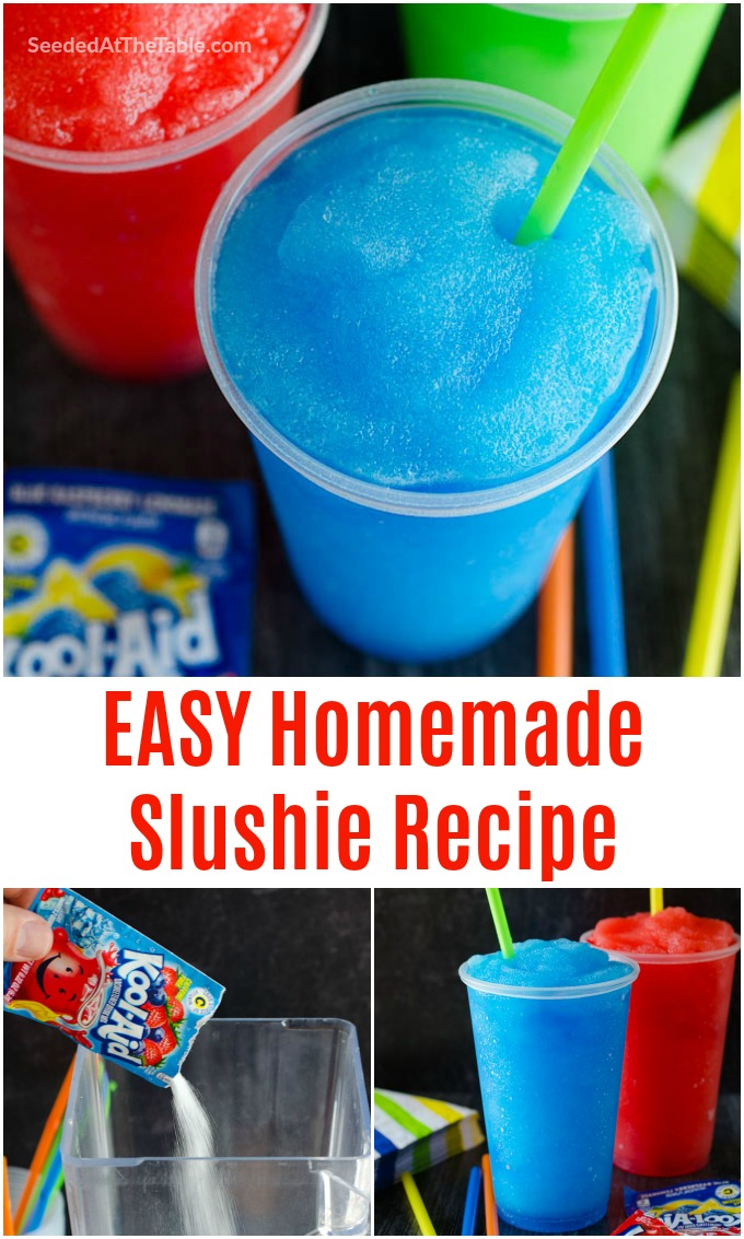 Learn How To Make A Slushie In Your Blender At Home With Just 4 Ingredients This Homemade Slushie Recipe Using Koo Slushie Recipe Kid Drinks Recipes Slushies