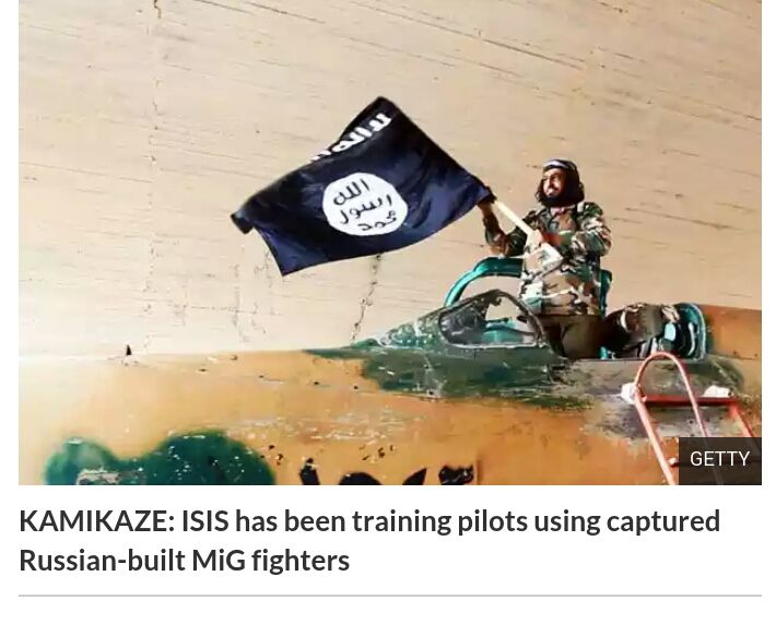 ISLAMIC State is training kamikaze pilots who could hit Brit military bases with suicide jets packed with explosives.- http://ow.ly/3ywSzN