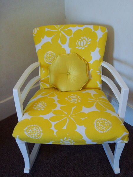 Nursery Accent Rocker Yellow Yellow Painted Furniture