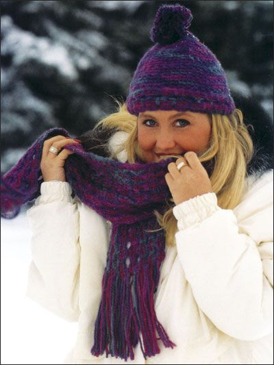 Free Tapestry Scarf & Hat Crochet Pattern -- Download this free ...