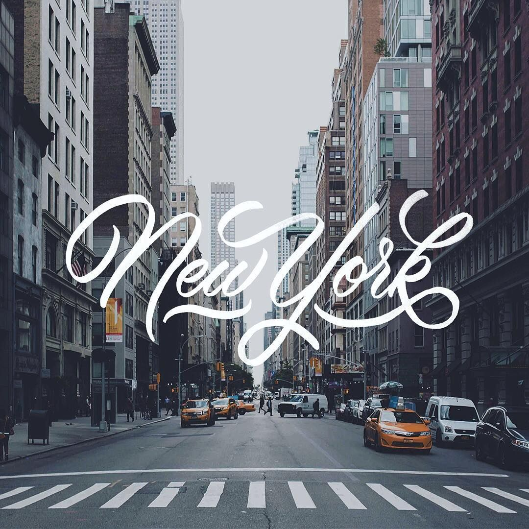 New York | Brush Lettering By Artist @ginozko #typography #gold #lettering…