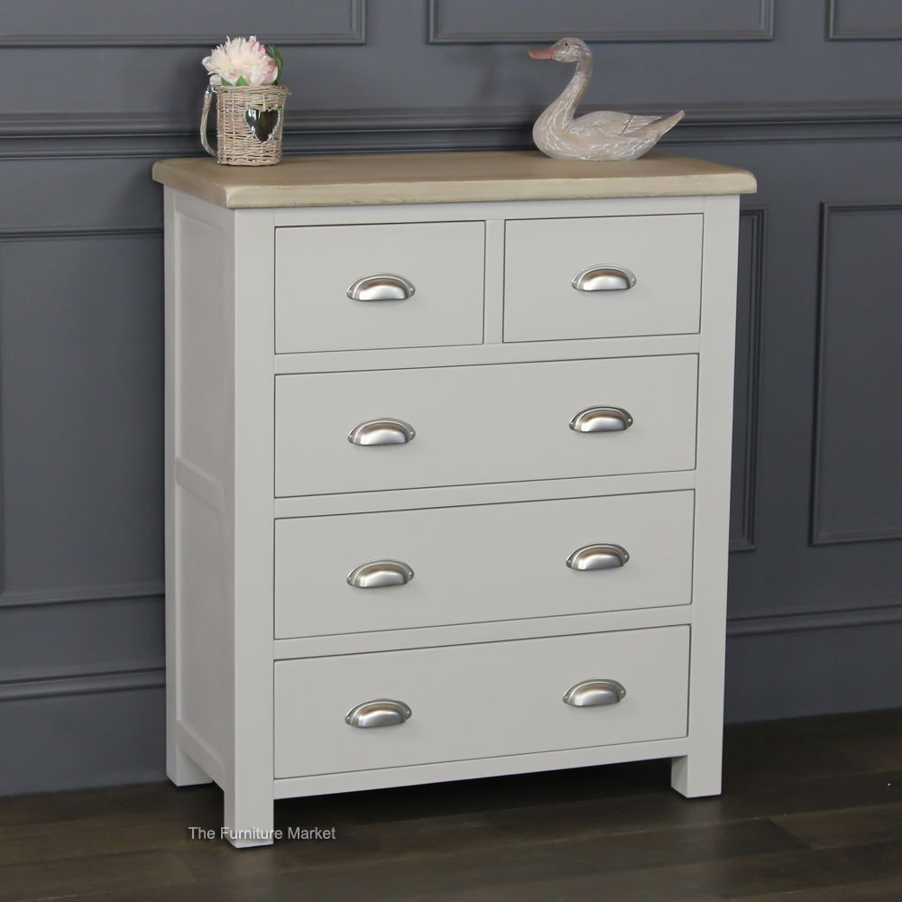 Chester Grey Painted  Drawer Chest Of Drawer