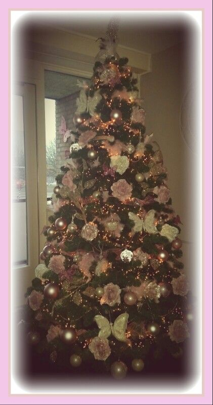 M N Roze Kerstboom Roze Kerst Roze Kerstversiering Kerstversiering