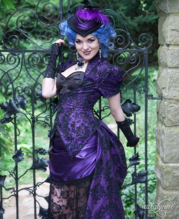 Gothic Wedding Dress | Violet Vixen | Victorian Wedding Dress, Purple Wedding Dress, Masquerade Ball Gown, Alternative Wedding Dress #PurpleWeddingDress #VictorianWedding #GothicWeddingDress #MasqueradeBallGown #AlternativeWedding #GothicBridalGown #GothicWeddingGown #PennyDreadful #NonTraditional #FairyTaleWedding #masqueradeballgowns Gothic Wedding Dress | Violet Vixen | Victorian Wedding Dress, Purple Wedding Dress, Masquerade Ball Gown, Alternative Wedding Dress #PurpleWeddingDress #Victoria #masqueradeballgowns