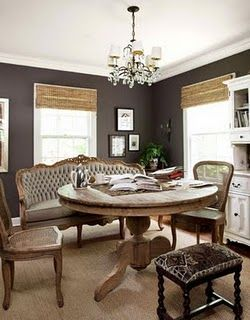 Love This Charcoal Eggplant Color For The Dining Room Charcoal