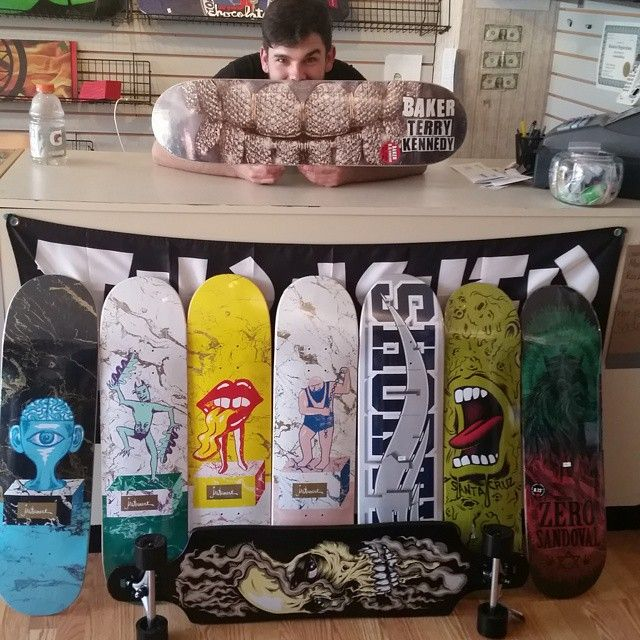 Got got a new order of fresh deck and longboards. Stop in today til 800 or this weekend 12pm to 6pm. If you have never skated an instrument come check one out while they last. They are straight out of my hometown Cincinnati, OH @galaxieskateshop@instrumentskateboards .#skaterowned#sk8ill#skatestl#sk8stl#freshtodeath