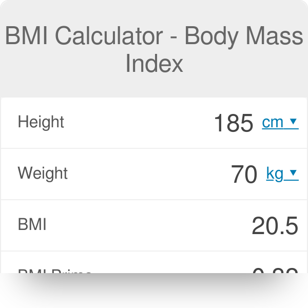 how to calculate bmi example