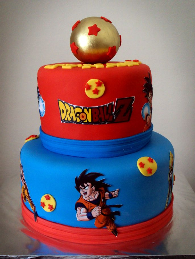 Dragon Ball Z Cake With Images Dragonball Z Cake Goku