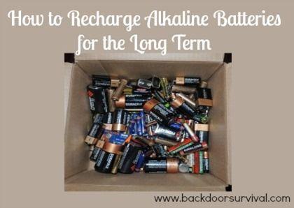 How To Recharge Alkaline Batteries Backdoor Survival Alkaline Battery Recharge Batteries