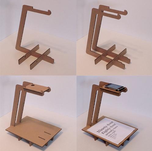 DIY cardboard iPhone scanner