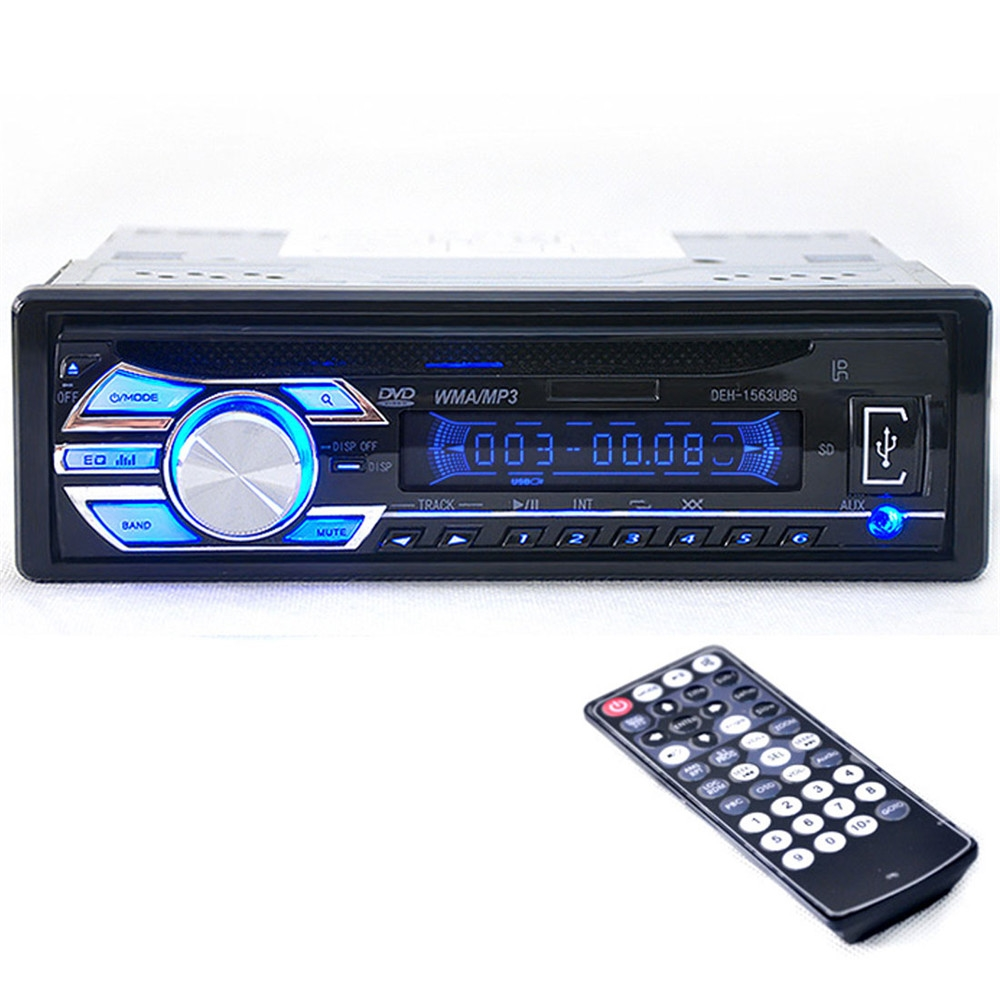 52.62$  Watch here - http://ali5gd.shopchina.info/1/go.php?t=32726060252 - Brand New Car Audio Players DEH-1563UBG Auto Car Audio Stereo USB / SD / MMC DVD / CD Player FM Radios 12V Power Supply  #buymethat