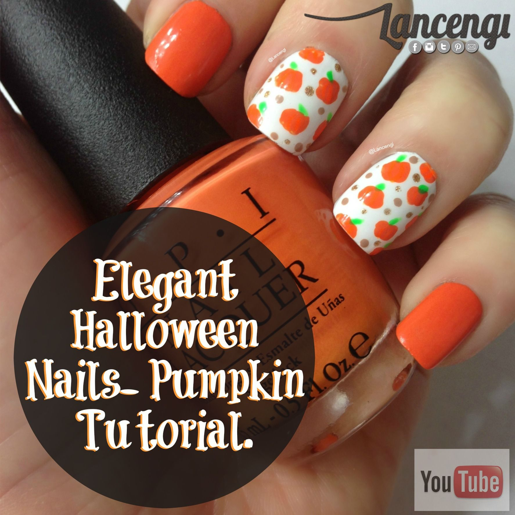 Nail Art Designs Tutorial Youtube: Fun Halloween Nails From Lancengi.com Cozy Up In Sweater