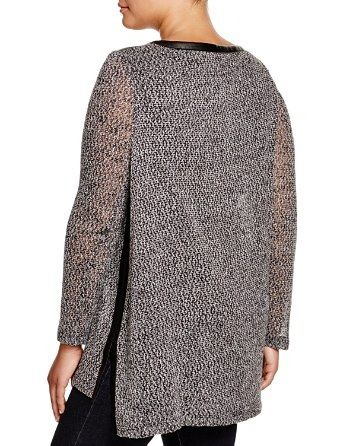 Lyss� Plus Faux Leather Trim Tunic | Bloomingdale's