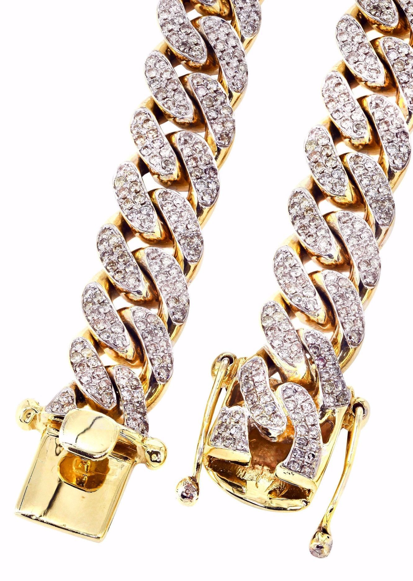 rope larger dp mens s gold view cut diamond men chains hollow necklace yellow chain