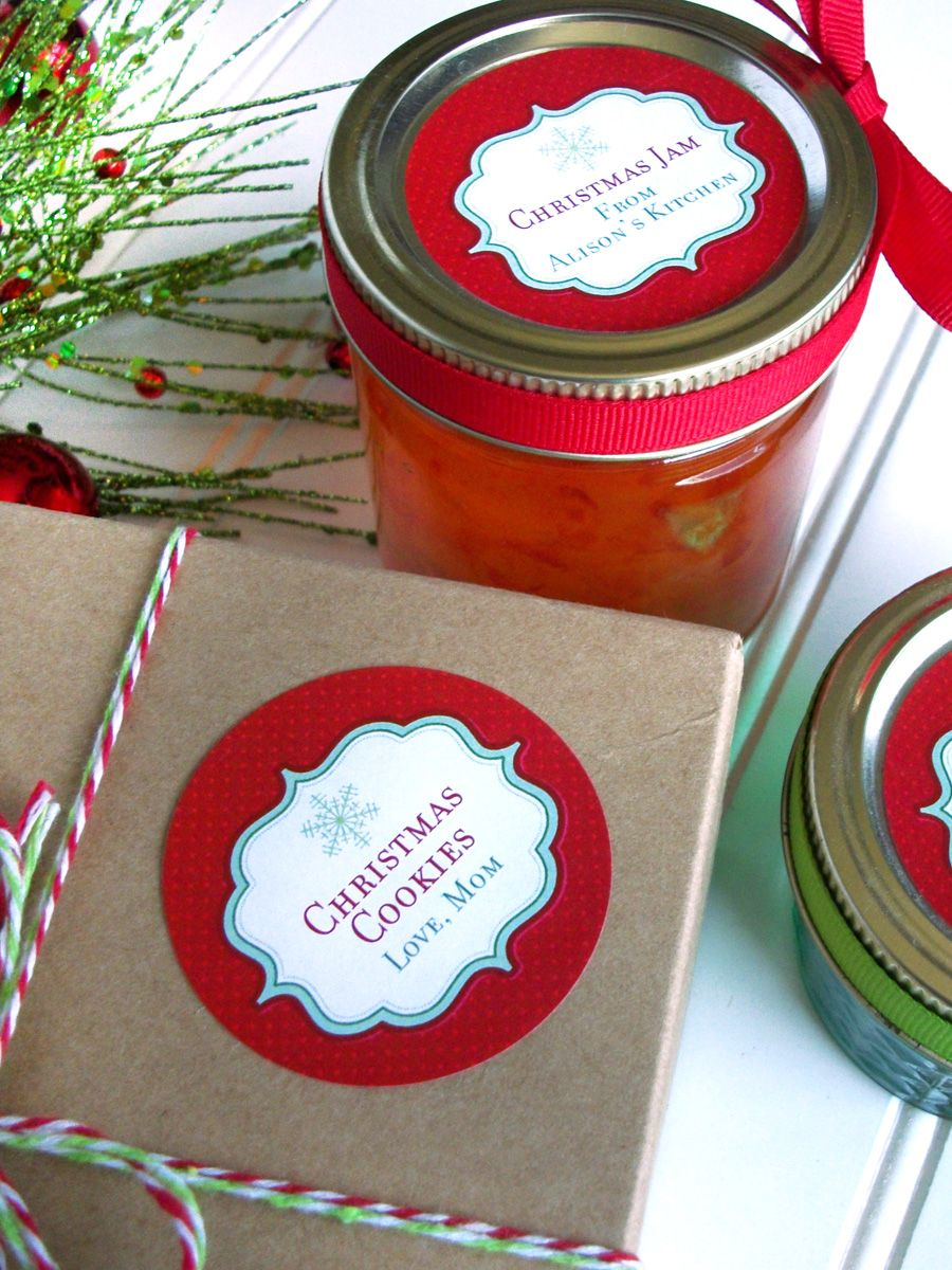 Custom Red Christmas Canning Labels Christmas Canning Labels Canning Jar Labels Wine Bottle Diy Crafts