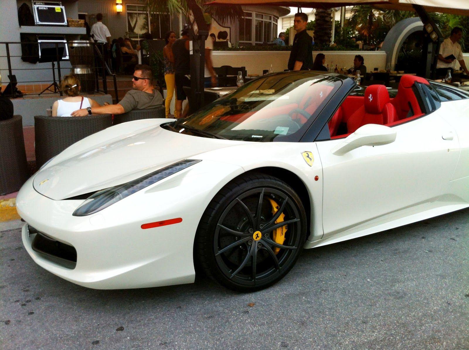Ferrari 458 Spider White, black rims, red rims. DREAM CAR!!!