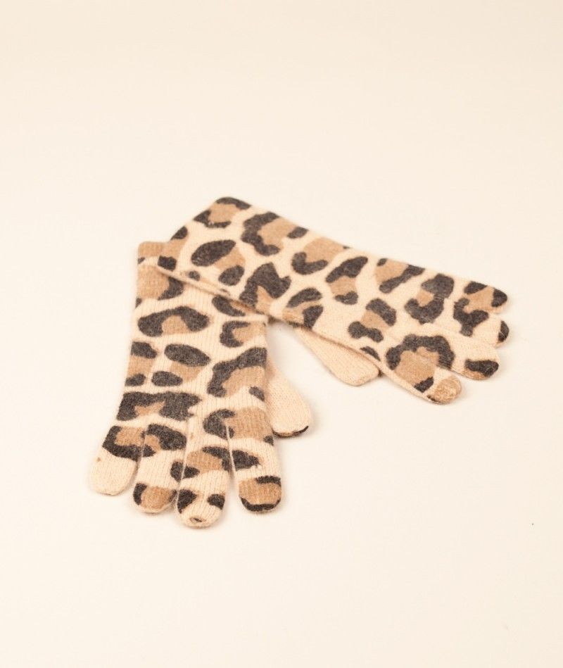 RUT&CIRCLE Price Leopard Gloves