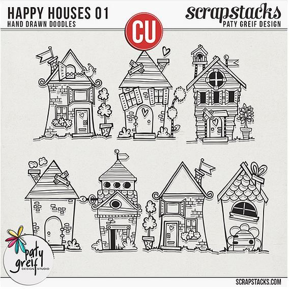 Happy Houses 1 Drawing Pinterest Doodles Drawings And House