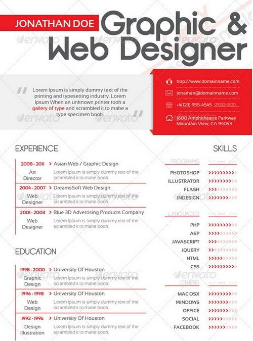 Resume \/ CV (curriculum vitae) is a document which contains about - resume website design