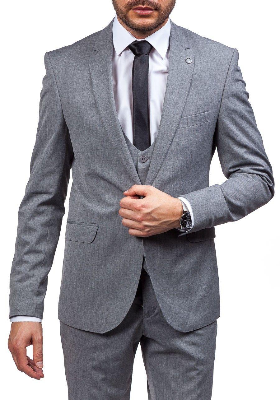 timeless design 8645b 69d87 Pin von Thomas Libicher auf Hochzeit | Herren anzug grau ...