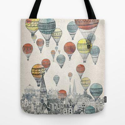Voyages over Edinburgh Tote Bag by David Fleck - $22.00