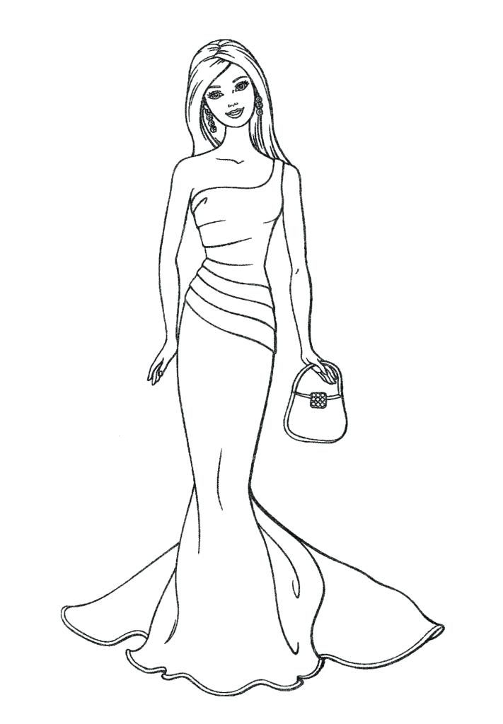 Coloring Pages Fashion Barbie Coloring Pages Fashion Online For