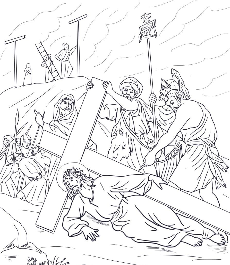 Pin By Andrzej Remus On Bibbia Bible Coloring Pages Cross Coloring Page Coloring Pages