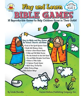Play and Learn Bible Games Resource Book - Carson Dellosa Publishing Education Supplies