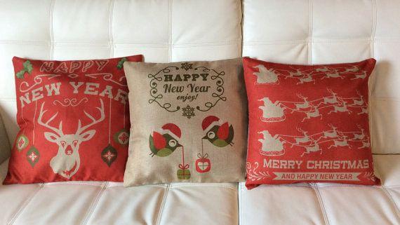 Frohe Weihnachten Dekorativ Kissenbezug von NewLook auf DaWanda.com
